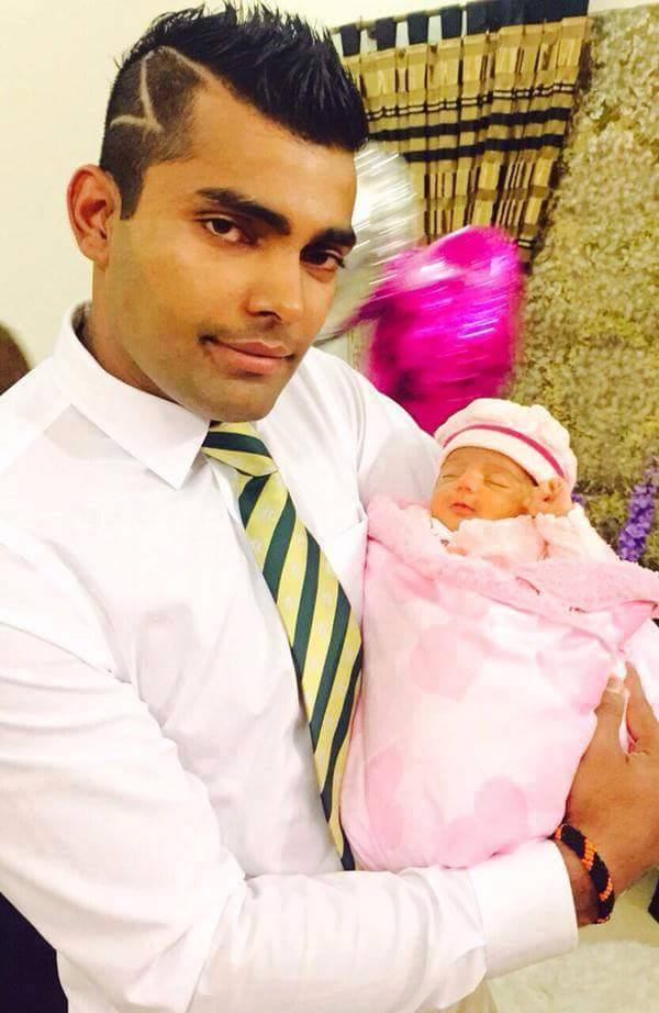 Umar Akmal blessed with a baby girl